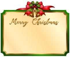 Frohe Weihnachten-Karte mit grünem Rand vektor