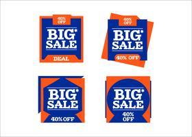 Kaufende bunte Bänder des kreativen Vektors des großen Verkaufs
