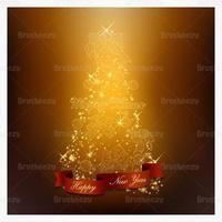 Glödande julgran vektor bakgrund