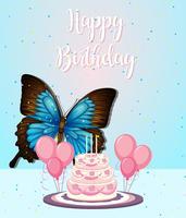 Schmetterling auf Geburtstagsrahmen