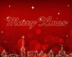 Stadt Lichter Weihnachten Vektor Hintergrund