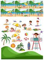 Set av strand samling