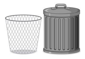 Set med metall plast behållare