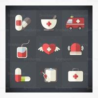 Flache medizinische Icon Vector Pack