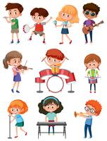 Barn med musikinstrument
