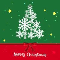 Julkortsmall med julgran och stjärnor