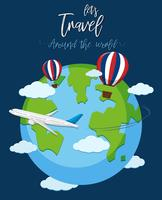 Resa över hela världen vektor