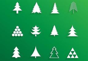 Enkel julgran vektorpaket vektor