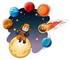 Eine Weltraum-Galaxie-Szene vektor