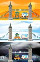 Set av London bro scener vektor