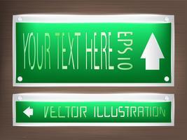 LED-Lichtdekoration mit Acryletikett auf dem Etikett. vektor