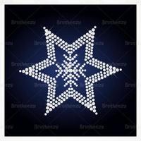 Diamant verzierte Stern Vektor Hintergrund