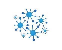 Molekülsymbollogoschablonenvektor-Illustrationsdesign vektor