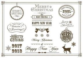 Jul och Holiday Label Vector Pack