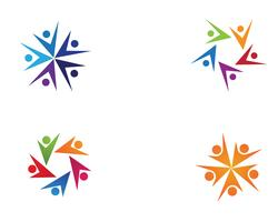 gemenskapsvård Logo mall vektorikon