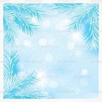 Blaue Weihnachten Kiefer Zweige Vektor Hintergrund