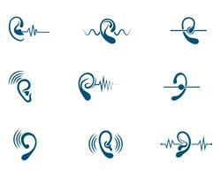 Anhörung Logo Template-Vektor-Symbol