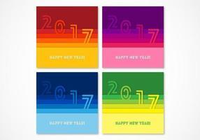 Färgglada Papper 2017 Vector Bakgrunder Pack