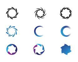 Wirbel-Vektor-Illustration-Symbol vektor