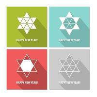 Modern Star New Year Vector Bakgrund Pack