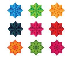 Blumenmuster Logo und Symbole weißen Hintergrund