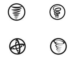 Tornado-Symbol-Vektor-Illustration vektor