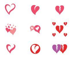 Kärlek hjärta logotyp och mall