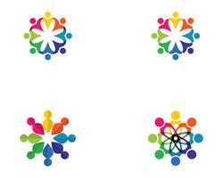 Gemeinschaft, Netzwerk und soziale Ikone vektor