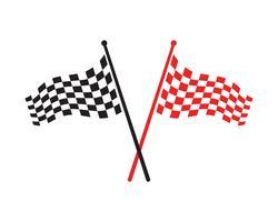 Race Flag Icon, einfaches Design-Logo vektor