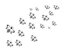 Bienenlogo und Symbol-Vektor-Vorlagen vektor