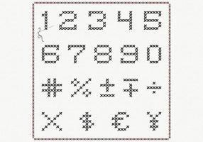 Korsstygnnummervektorpaket vektor