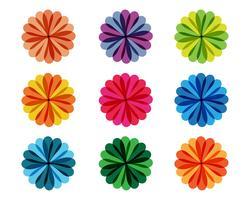 Blumenmuster Logo und Symbole vektor
