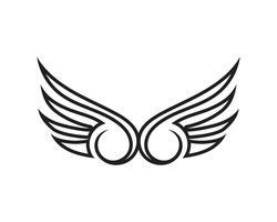 Wing svart logotyp mall vektor illustration design vektor