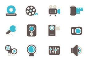 Multimedia ikon vektor pack