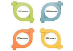 Cirkulär Origami Banner Vector Pack