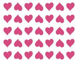 Kärlek hjärta symbol logotyp mallar