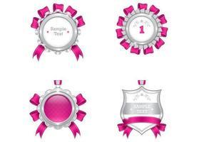 Luxuriöses Pink und Silber Medal Vector Pack