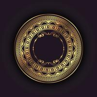 Elegant bakgrund med guld cirkulär ram