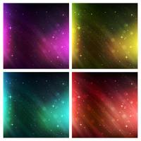 Weltraum Hintergrundabstract Weltraum Hintergrund. Vektor Hintergrund Set