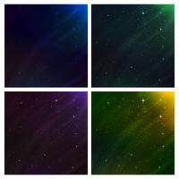 abstrakt rymdbakgrund. vektor bakgrundsuppsättning