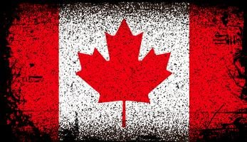 Kanada Grunge flagga vektor