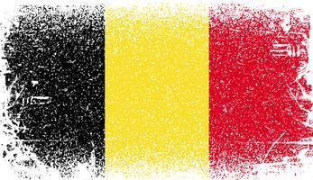Belgien Grunge flagga vektor