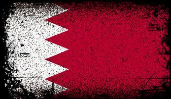 bahrain Grunge flagga vektor