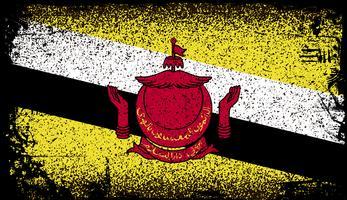 Brunei Grunge flagga vektor