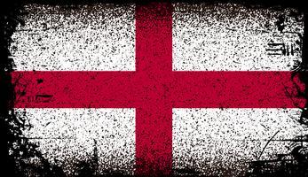 England Grunge flagga vektor
