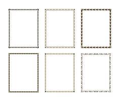 Ställ in lyxig dekorativ ram vektor