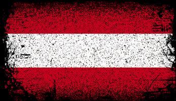 Österrike Grunge flagga vektor