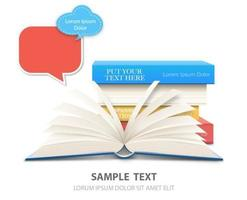 Buch-Hintergrund-Vektor
