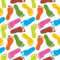mänsklig färgfotspår mönster färgstark bakgrund