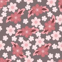 söt blomblommig bakgrund vektor